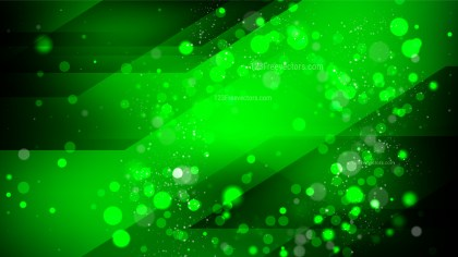 Abstract Cool Green Blurry Lights Background Vector