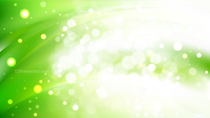 Abstract Green and White Blurry Lights Background Vector