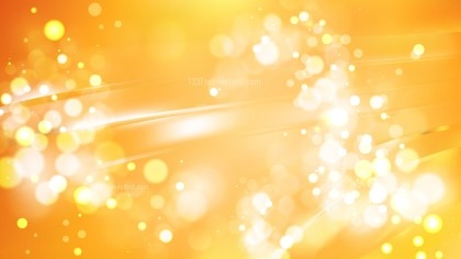 Abstract Light Orange Blurry Lights Background Image