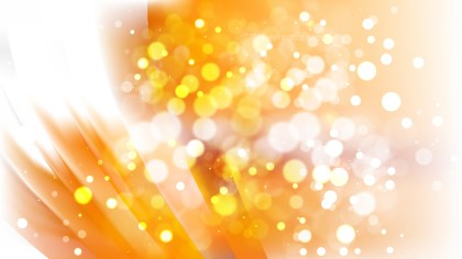 Abstract Orange and White Blurred Lights Background Vector