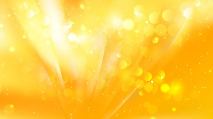 Abstract Orange and Yellow Blurred Bokeh Background Vector