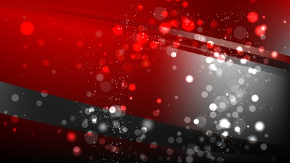 Abstract Red and Black Bokeh Lights Background Image