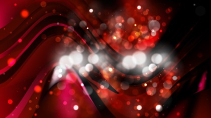 Abstract Red and Black Blurred Bokeh Background Vector