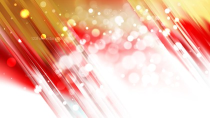 Abstract Red and Gold Blurred Bokeh Background Image