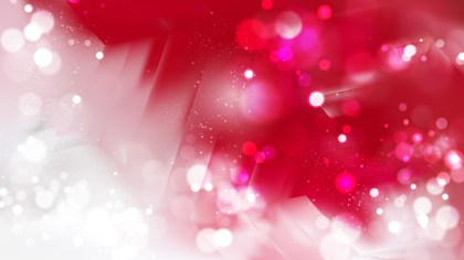 Abstract Red and White Blurred Bokeh Background Image