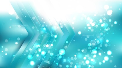 Abstract Turquoise and White Blur Lights Background