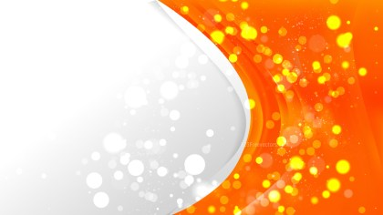 Abstract Bright Orange Wave Business Background Image