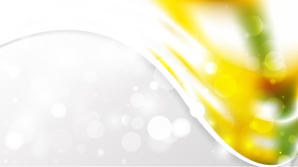 Yellow and White Wave Business Background Vector
