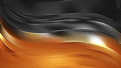 Cool Orange Shiny Metal Texture Background