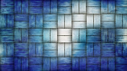 Blue and White Rattan Background