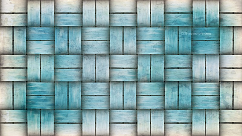 Blue and White Wicker Background