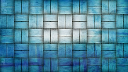 Blue and White Woven Bamboo Texture Background