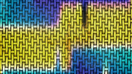 Blue and Yellow Bamboo Weave Background Texture
