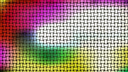 Colorful Wicker Twill Weave Background Texture