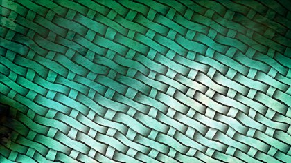 Green and White Woven Basket Texture Background