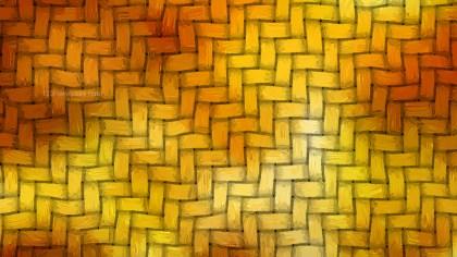 Orange Woven Bamboo Texture Background