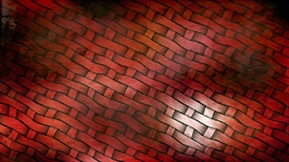 Red and Black Wicker Basket Background
