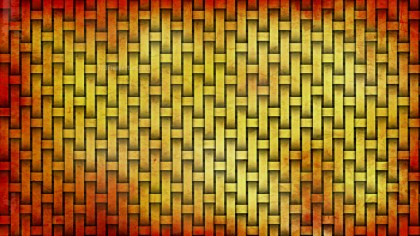 Red and Yellow Weave Rattan Texture Background