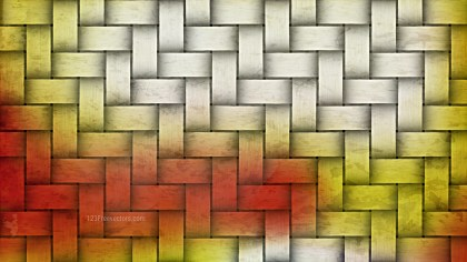 Red and Yellow Wicker Texture Background