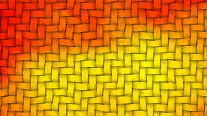 Red and Yellow Woven Bamboo Texture