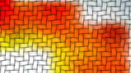 Red and Yellow Woven Basket Texture