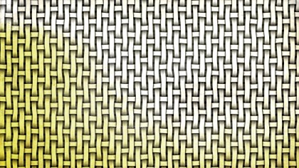 White and Gold Bamboo Weave Texture