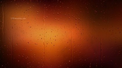 Water Drops on Cool Brown Background