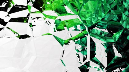 Green Black and White Abstract Crystal Background