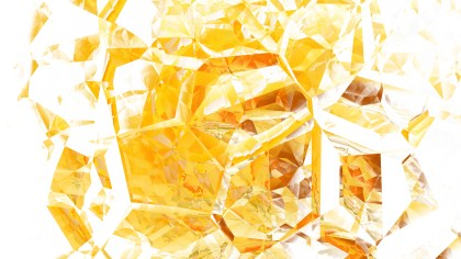 Orange and White Abstract Crystal Background Image
