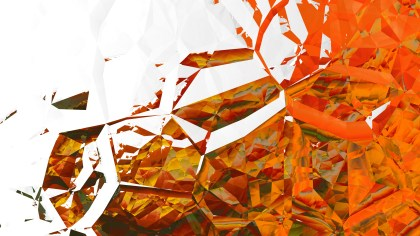 Orange and White Crystal Background