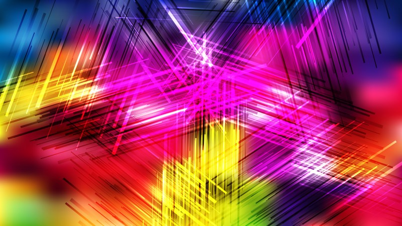 Colorful Chaotic Overlapping Lines Background Vector Graphic