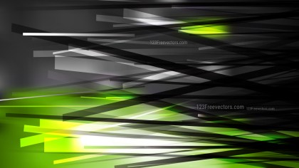 Abstract Green Black and White Overlapping Lines Background