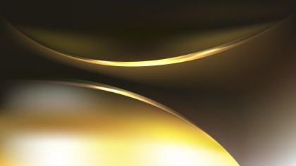 Abstract Black and Gold Wave Background Template Vector Graphic