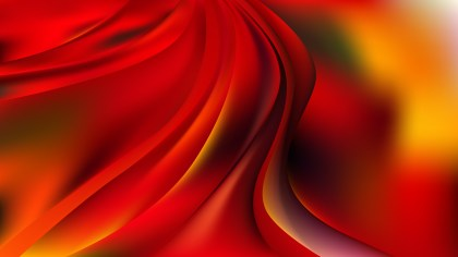 Black Red and Yellow Abstract Wavy Background Vector Graphic