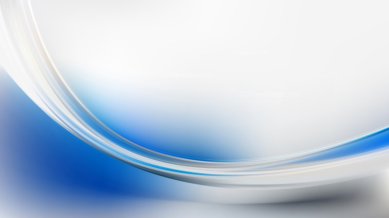Glowing Blue and Grey Wave Background Vector Graphic