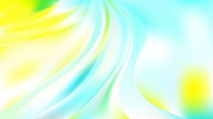 Blue Yellow and White Abstract Curve Background Vector Image