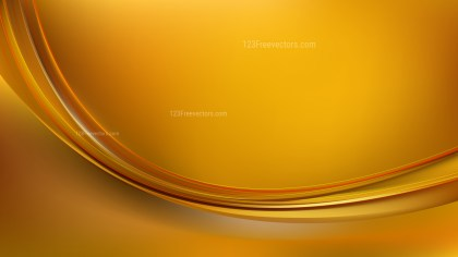 Gold Abstract Wave Background Vector Art