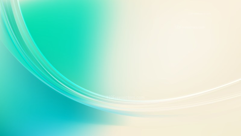 Abstract Green and Beige Curve Background Vector Image