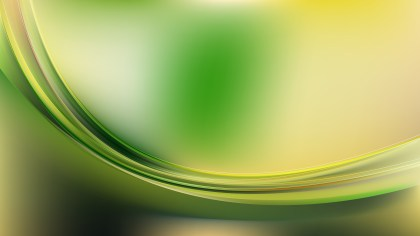 Glowing Green and Yellow Wave Background