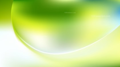 Green Yellow and White Abstract Curve Background