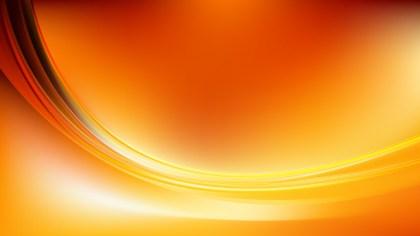 Abstract Orange Wavy Background Illustrator