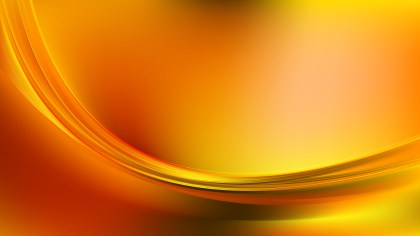 Abstract Orange and Yellow Wave Background