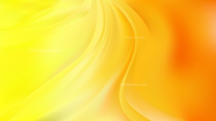 Glowing Abstract Orange and Yellow Wave Background Vector Art