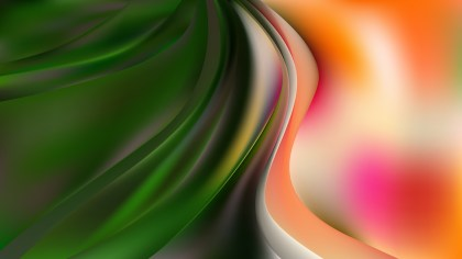 Glowing Orange White and Green Wave Background Illustration