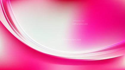 Glowing Abstract Pink and White Wave Background Vector Graphic