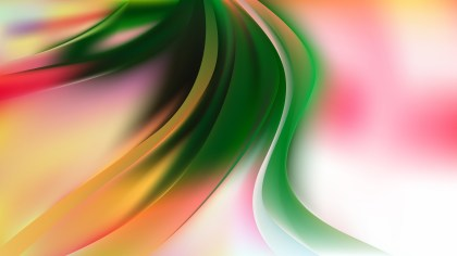 Abstract Pink Green and White Shiny Wave Background