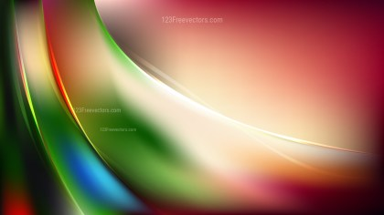 Abstract Red and Green Wave Background Vector Illustration