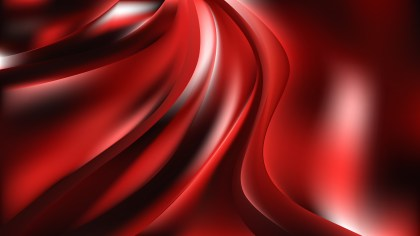 Abstract Red Black and White Shiny Wave Background Vector Illustration