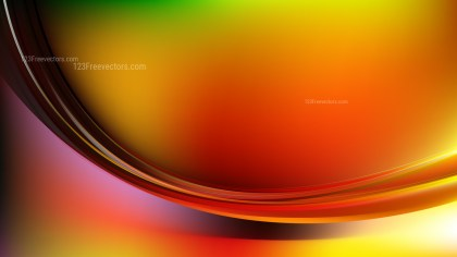 Abstract Red Yellow and Green Shiny Wave Background Graphic