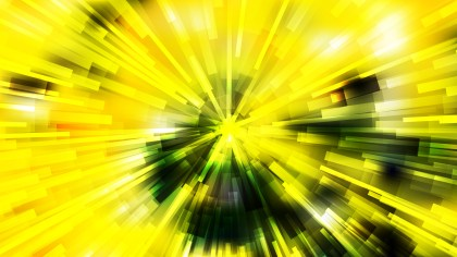 Abstract Black Green and Yellow Light Burst Background